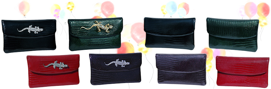 Designer mini clutches