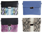 Designer leather clutches
